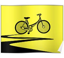 Vélo Jaune (Yellow Bicycle)  Poster