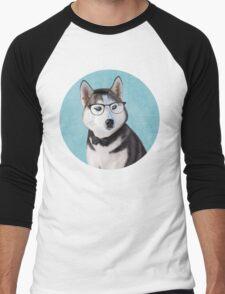 Mr Siberian Husky Men's Baseball ¾ T-Shirt