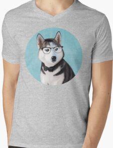 Mr Siberian Husky Mens V-Neck T-Shirt