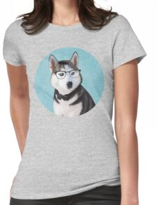 Mr Siberian Husky Womens Fitted T-Shirt