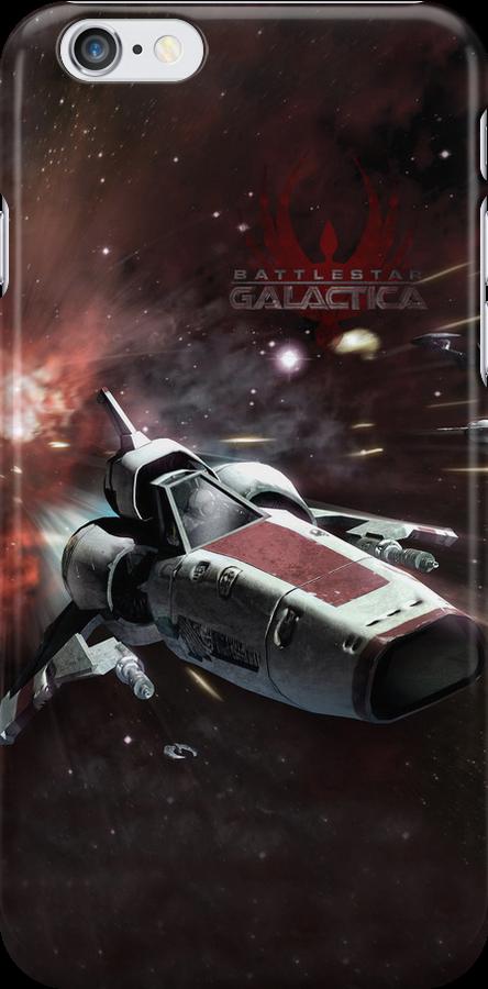 Battlestar Galactica iphone Cover by Chris Cardwell
