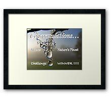 Challenge Winner Banner Framed Print