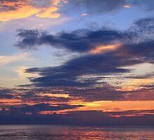 Daybreak Sky over the Caribbean Sea by Roupen  Baker