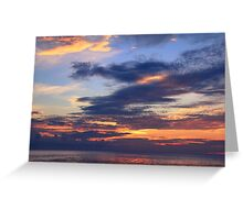 Daybreak Sky over the Caribbean Sea Greeting Card