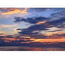 Daybreak Sky over the Caribbean Sea Photographic Print