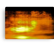 Sunset on Water  Canvas Print