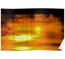 Sunset on Water  Poster