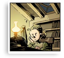 Marie Curie Studying Canvas Print