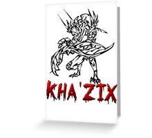 Kha Zix Greeting Card