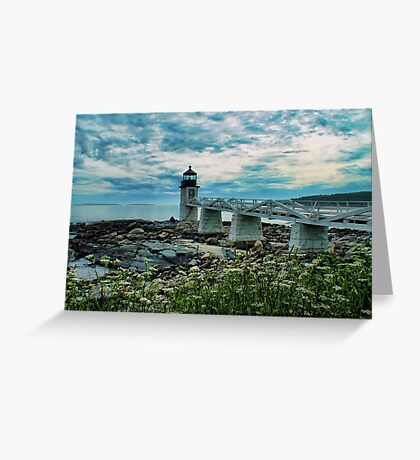 A Beautiful Night At Marshall Point Greeting Card