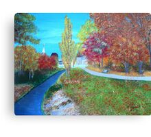 small road to town Canvas Print