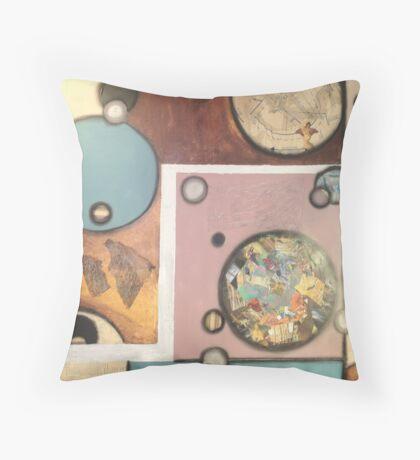 Collage Circular II Throw Pillow