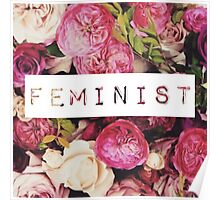 Floral Feminist Design Poster