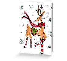 Vintage Reindeer Greeting Card