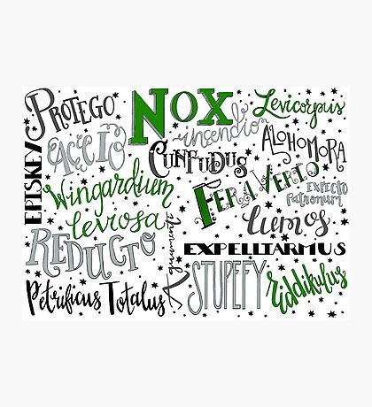 Spells & Charms-Green Photographic Print
