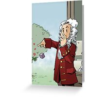 Newton Comic Cover Greeting Card
