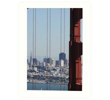 San Francisco through the Bridge Art Print