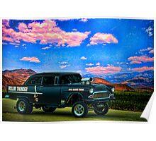 """1955 Chevrolet Pro Street Dragster """"Rollin Thunder"""" Poster"""