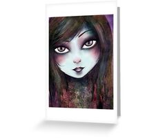 Big Eyed Girl Greeting Card