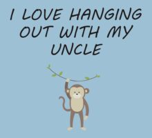 I Love Hanging Out With My Uncle Kids Tee