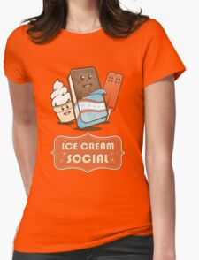 Ice Cream Social Womens Fitted T-Shirt