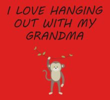 I Love Hanging Out With My Grandma Kids Tee