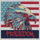 American Flag Freedom Eagle by pinballmap13