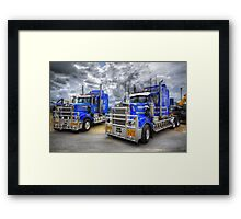 Top Torque Framed Print