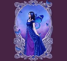 Sapphire Birthstone Fairy Womens Fitted T-Shirt