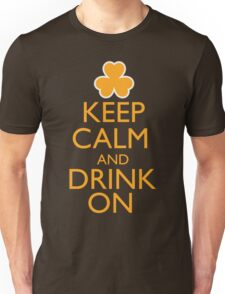 Keep Calm and Drink On Irish Shirt Unisex T-Shirt