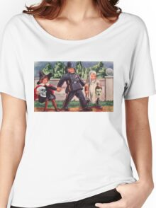 Young Gravediggers  (Vintage Halloween Card) Women's Relaxed Fit T-Shirt