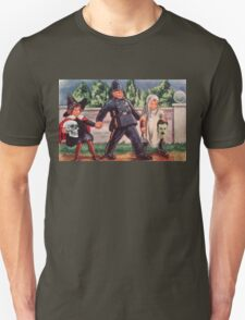 Young Gravediggers  (Vintage Halloween Card) T-Shirt