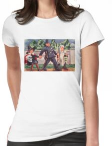 Young Gravediggers  (Vintage Halloween Card) Womens Fitted T-Shirt