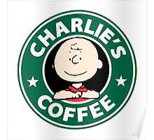Charlie Brown Starbucks Poster