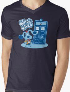 Who's Clues Mens V-Neck T-Shirt