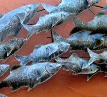 METAL FISH SCULPTURE IN SECRET GARDEN Sticker
