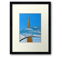 Clouds, Sky and Sculpture. Framed Print