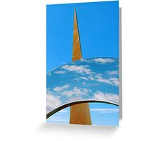 Clouds, Sky and Sculpture. Greeting Card