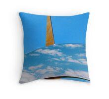 Clouds, Sky and Sculpture. Throw Pillow