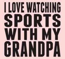 I Love Watching Sports With My Grandpa Kids Tee
