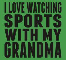 I Love Watching Sports With My Grandma Kids Tee