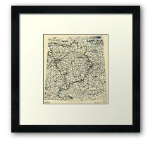 April 20 1945 World War II Twelfth Army Group Situation Map Framed Print