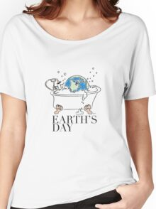 earth's day color Women's Relaxed Fit T-Shirt