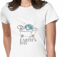earth's day color Womens Fitted T-Shirt