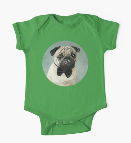 Mr Pug One Piece - Short Sleeve