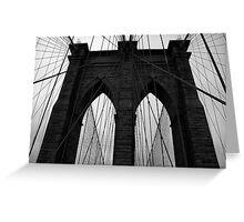 Brooklyn bridge New York, monochrome Greeting Card