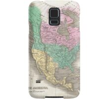 The vintage map of North America Samsung Galaxy Case/Skin