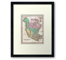 The vintage map of North America Framed Print