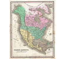 The vintage map of North America Photographic Print