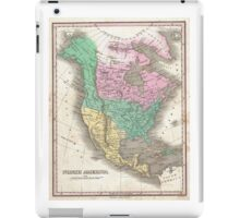 The vintage map of North America iPad Case/Skin